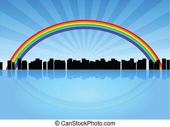 都市, 虹