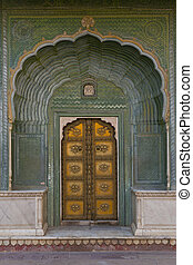 都市, 複合センター, 宮殿, jaipur