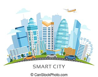 都市, 超高層ビル, 都市, 痛みなさい, アーチ, 風景