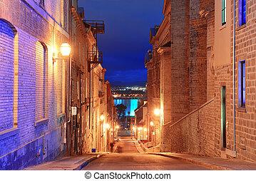 都市 通り, 古い, ケベック