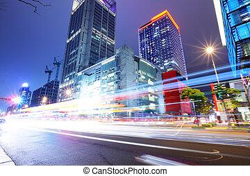 都市 通り, taipei, 夜
