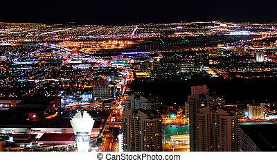 都市, 都市, パノラマ, 夜
