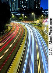 都市, 都市, 車ライト