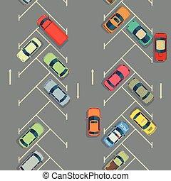 都市, 駐車, seamless, 手ざわり, 自動車