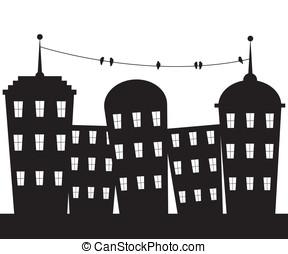 都市, 黒い、そして白い