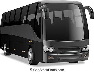 都市, 黒, バス