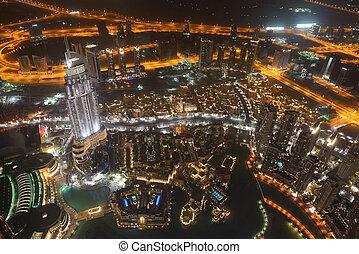 都市, 2013, 9 月, 下方に, イラン人, uae, 都市, -, 人工, 3, uae., チャンネル, 10, gulf., 10:, kilometers, 前方へ, ドバイ, 町, ドバイ, 長さ, 夜, 光景