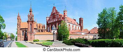 都市, anne, st. 。, bernardinu, 教会, vilnius