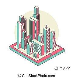 都市, app
