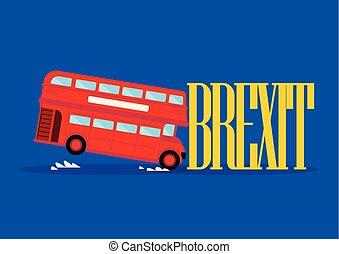 都市, brexit, 単語, バス, ロンドン, 衝突