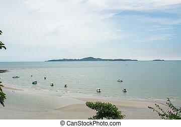 都市, chonburi, , タイ, pattaya, 浜