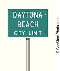 都市, daytona, 印, 限界, 浜, 道