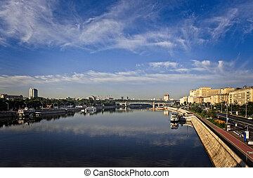 都市, embankments, moscow.