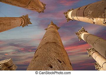 都市, governorate, 最も大きい, jerash, ローマ人, ヨルダン人, ヨルダン, antiquity), 資本, (gerasa, コラム