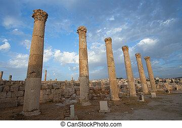 都市, greco ローマ, jerash