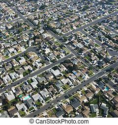 都市, houses., スプロール