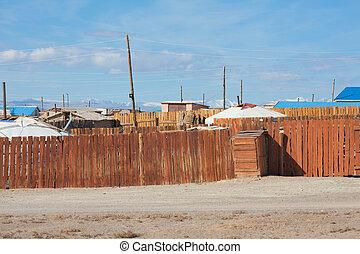 都市, mongolian, 典型的