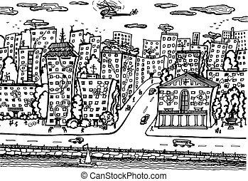 都市, quay.