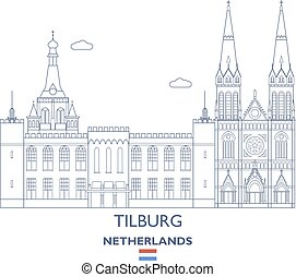 都市, tilburg, netherlands, スカイライン