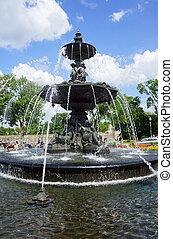 都市, tourny, 噴水, ケベック