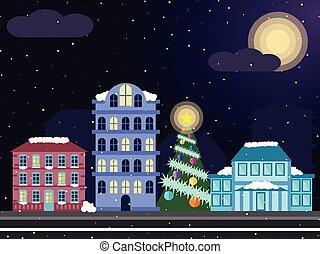 鄰近地區, 聖誕節, 夜晚