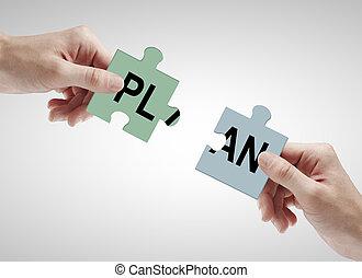 配合, 以及, 計劃, 概念