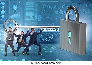 配合, 達到, 商人, 透過, 成功