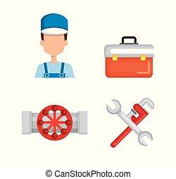 配管工, ∥で∥, 道具, セット