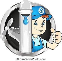 配管工, 修理に, シンボル