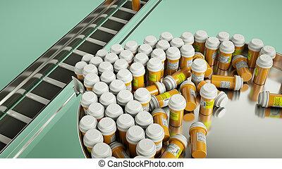 配藥, 事務, 制造, 藥丸, 以及, 藥物