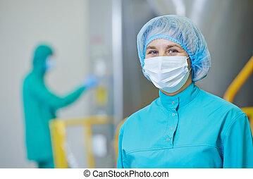 配藥, 工人, 工廠