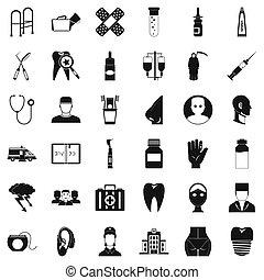 配藥, 產品, 圖象, 集合, 簡單, 風格