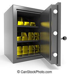 酒吧。, 保险箱, 金子