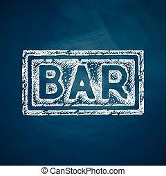 酒吧, 图标