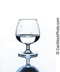 酒杯, 由于, 水