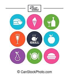酒精, 飲料, 食物, 圖象,  Burger, 簽署