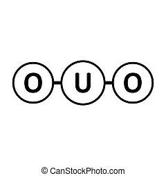 酸化物, icon., ウラン, 分子