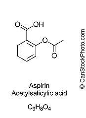 酸, 方式, 構造, アスピリン, acetylsalicylic