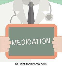 醫學, 板, 藥物處理