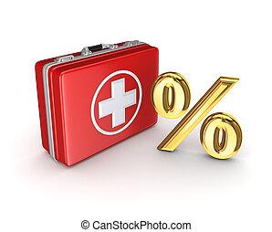 醫學, 符號, 小提箱, 百分之