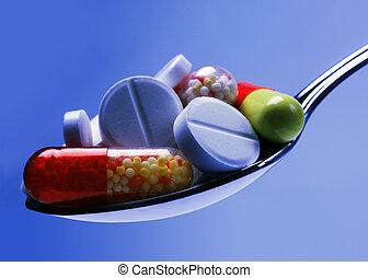 醫學, 藍色, 藥丸