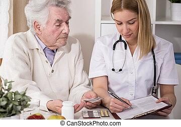 醫學, 醫生, 指示, 寫