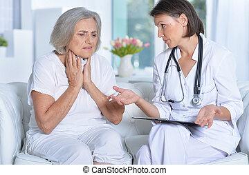 醫生, 以及, 她, s, 年長者, 病人