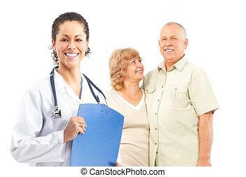 醫生, 以及, 年長的夫婦