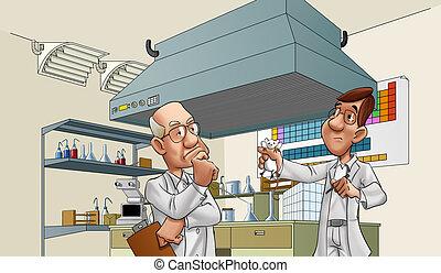 醫生, 在實驗室