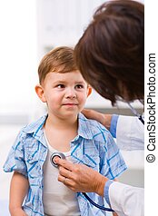醫生, 檢查, 孩子