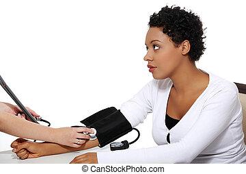 醫生, 檢查, 怀孕, 壓力, 血液, 婦女