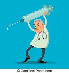 醫生, 注射器