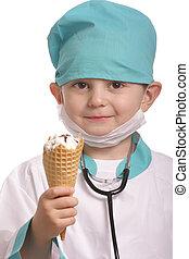 醫生, 由于, 冰淇淋