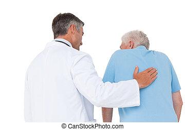 醫生, 由于, 年長者, 病人
